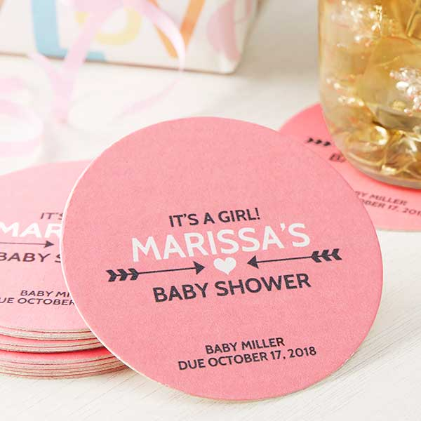 Baby Shower Personalized Paper Coasters - 18710