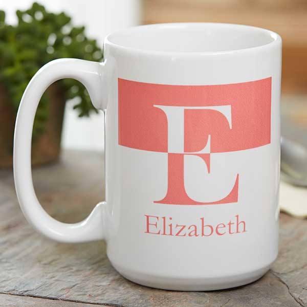 Personalized Initials Ceramic Coffee Mugs - 18740