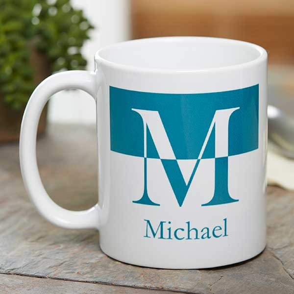Initials Oz 11 Personalized Mugs White Ceramic Coffee 3Lj45ARq