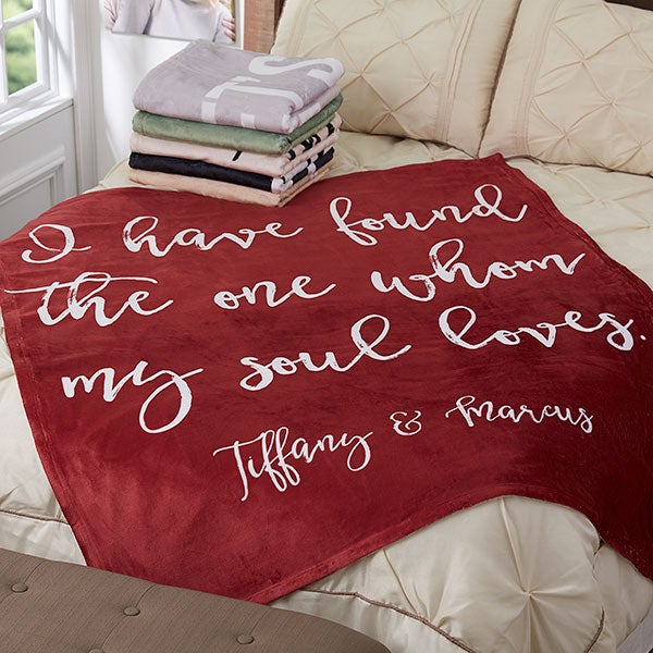 Personalized Blankets - Romantic Expressions - 18751