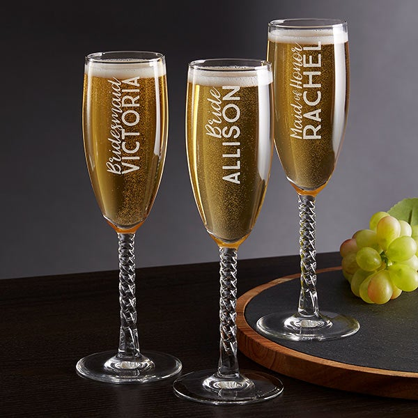 Personalized Champagne Flutes For Wedding Party - 18757