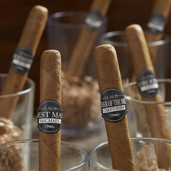 Groomsman Personalized Cigar Labels - 18760