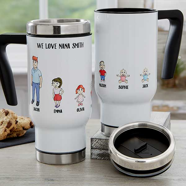Personalized Character Travel Mug With Handle - 18768