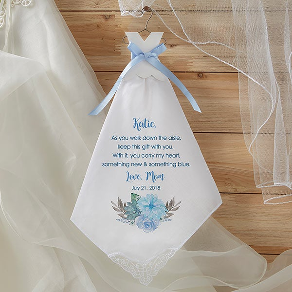 Personalized Wedding Handkerchief For The Bride - 18769