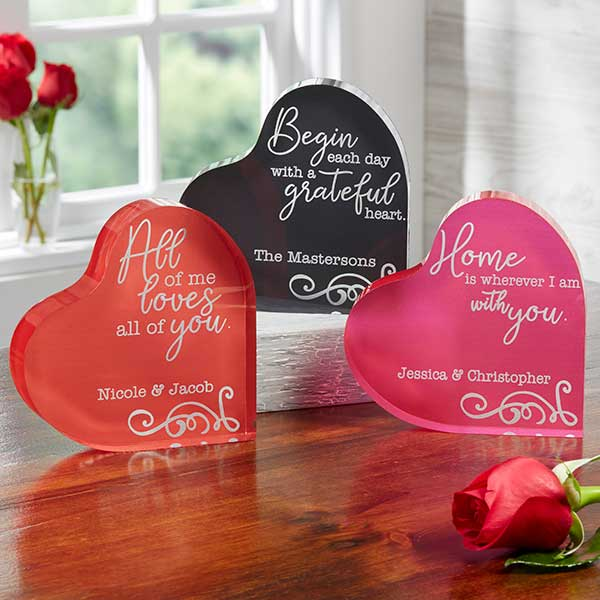 Personalized Color Heart Keepsakes - Loving Quotes - 18808