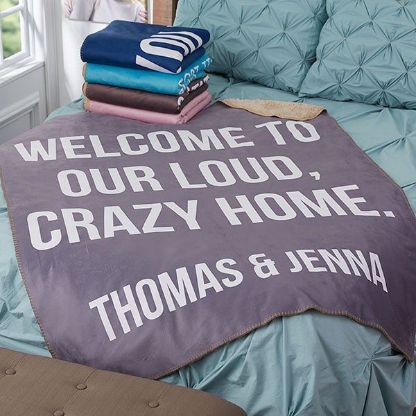 Fun Expressions Personalized Sherpa Blankets - 18816