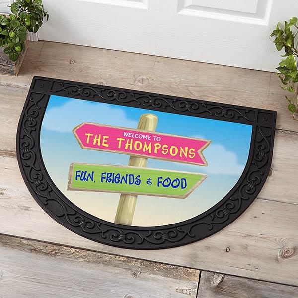 Personalized Half Round Doormat - Journey Marker - 18841