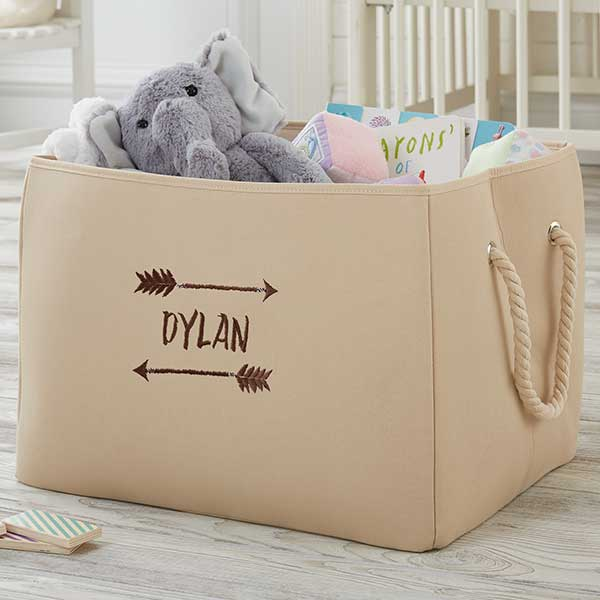 Embroidered Canvas Storage Tote - Tribal Designs - 18843