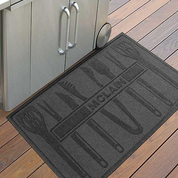 Personalized AquaShield Doormat - BBQ Tools - 18852D