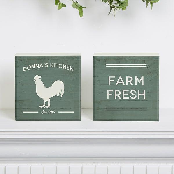 Personalized Shelf Decor - Farmhouse Kitchen - 18893