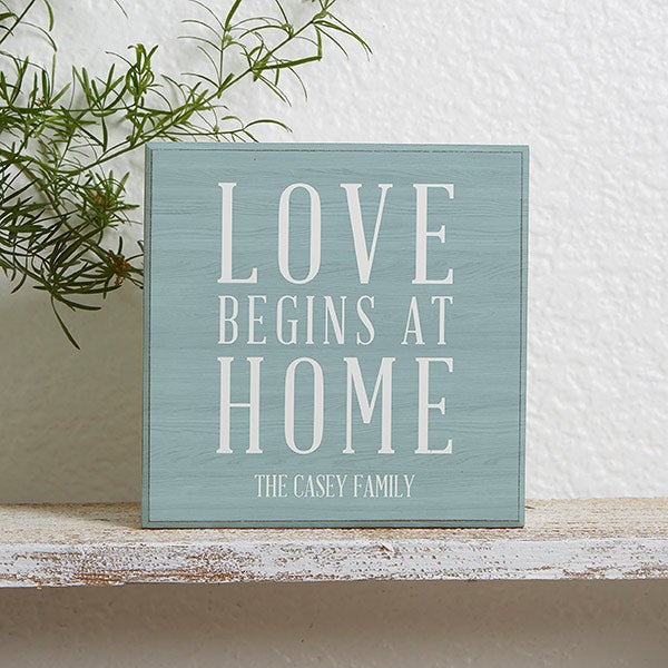 Personalized Shelf Decor - Love Begins At Home - 18894
