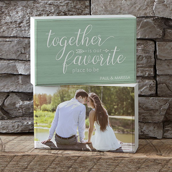 Personalized Photo Shelf Decor - Together  - 18902