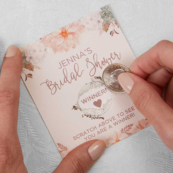personalized bridal shower games modern floral 18918