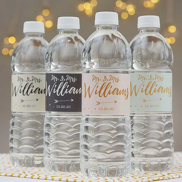 Personalized Water Bottle Labels Sparkling Love