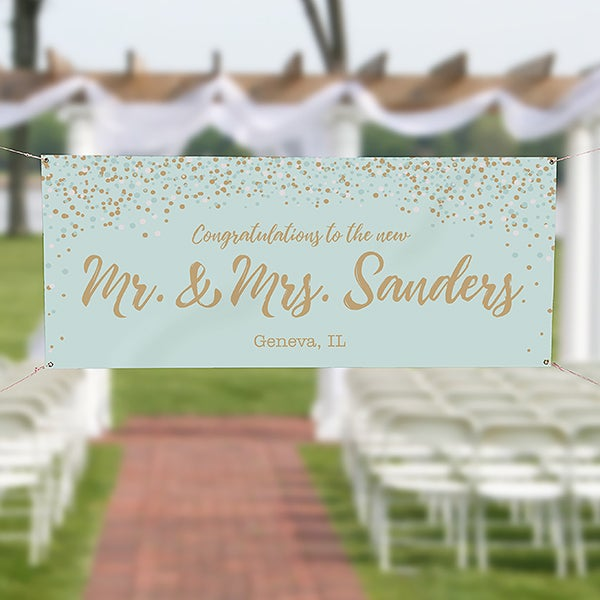 Sparkling Love Personalized Wedding Banner