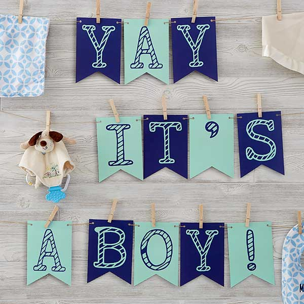 Personalized Baby Bunting Banner - 18934