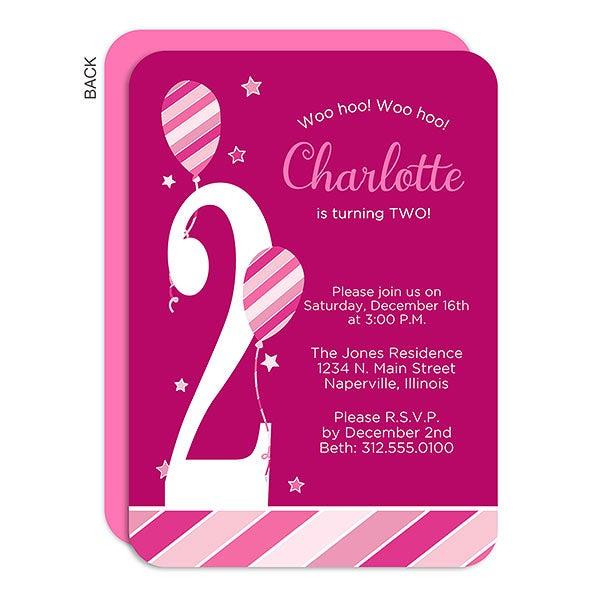 Personalized Birthday Invitation - Birthday Girl - 18937