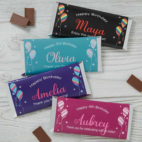 Personalized Candy Bar Wrappers - Birthday Girl - 18941