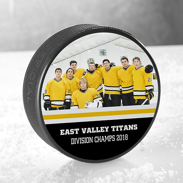 Personalized Hockey Puck - Team Photo - 18954