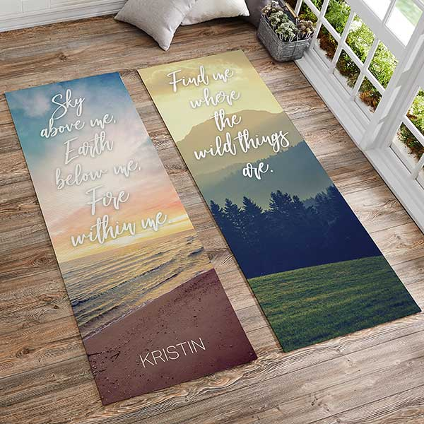 Nature Quotes Personalized Yoga Mat