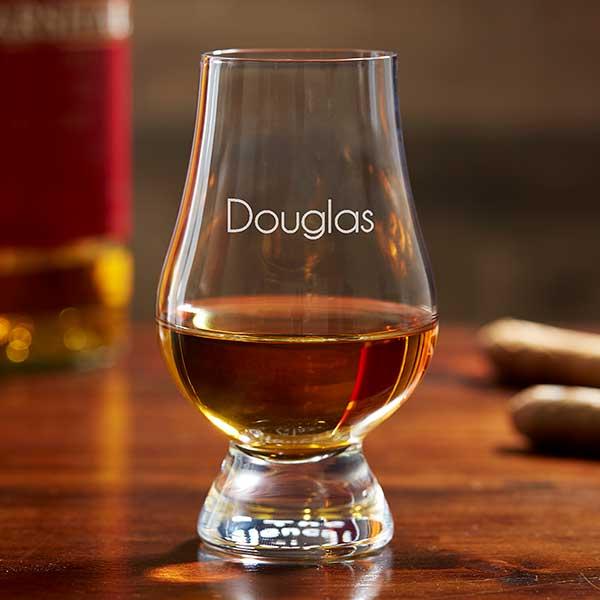 "Monogrammed Celtic /""H/"" Engraved Glencairn Crystal Scotch Whisky Glass"