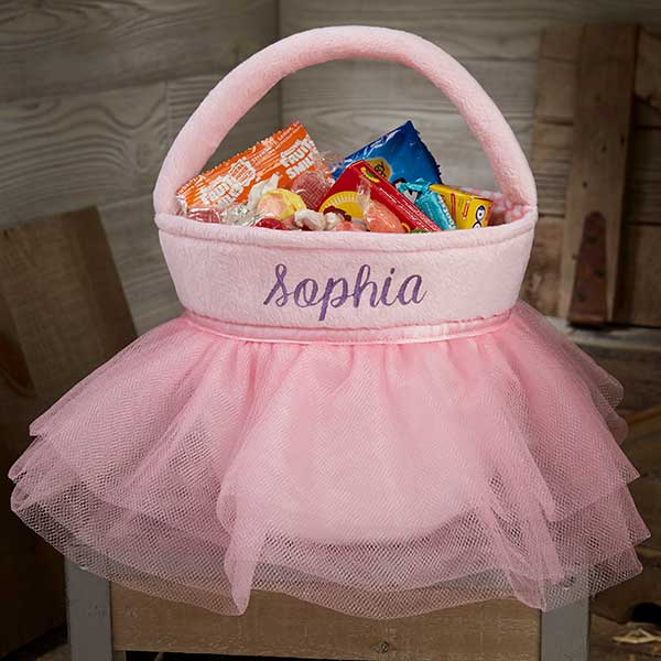 Personalized Ballerina Pink Tutu Princess Treat Bags - 18995