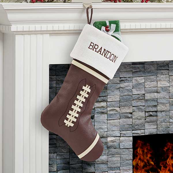 Football Personalized Christmas Stocking