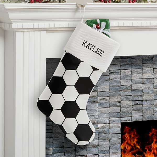 Personalized Soccer Ball Christmas Stockings - 19008
