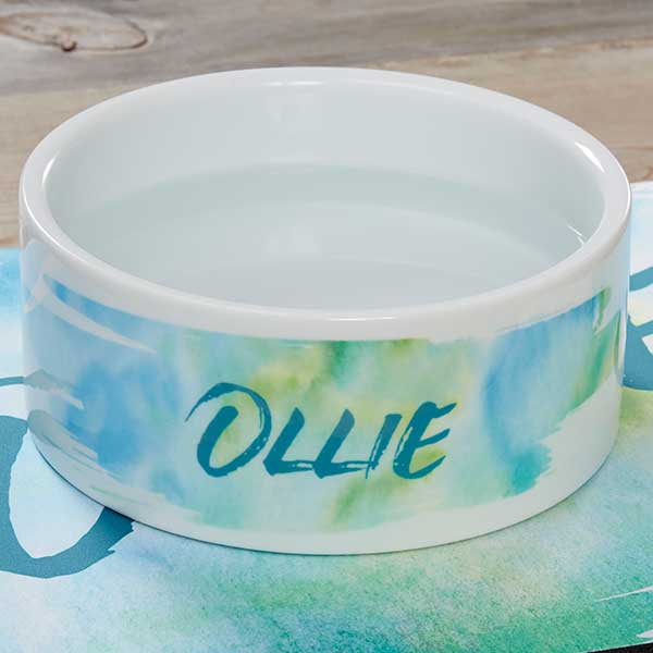 Personalized Dog Bowls - Watercolor Designs - 19022
