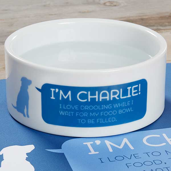 Personalized Dog Bowls - Pet Live - 19026