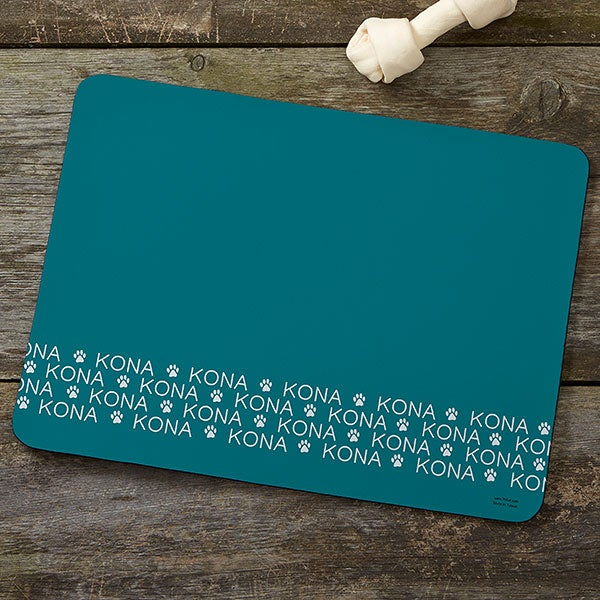 Personalized Dog Food Mat - Repeating Name - 19032