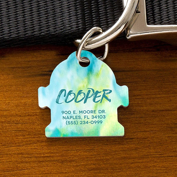 Personalized Dog Tags - Watercolor Design - 19038
