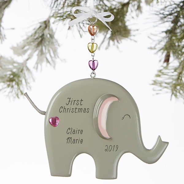 Personalized Elephant Ornament for Girls - 19060