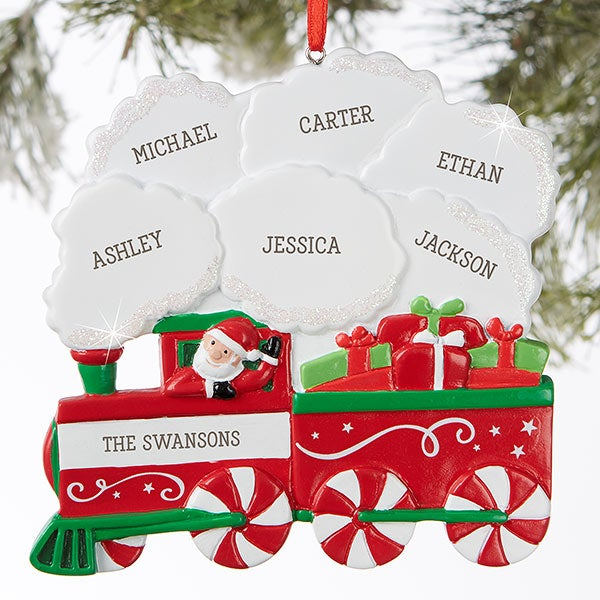 Christmas Ornaments With Names On Them.Holiday Express C Family Train Personalized Ornament