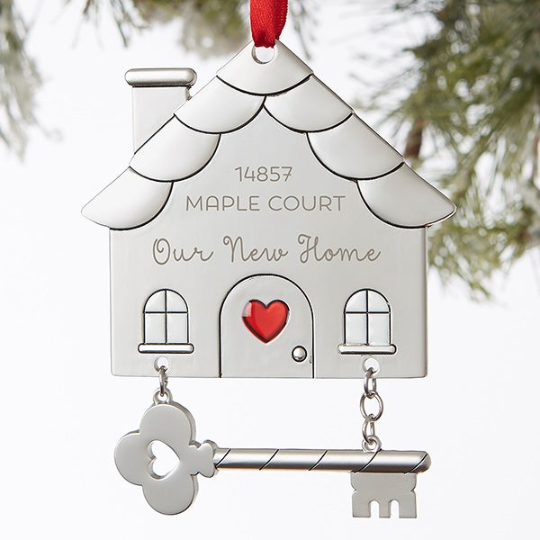 Personalized Happy New Home Ornament - 19066
