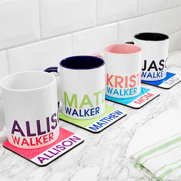 Personalized Name Coasters - Bold Name - 19072