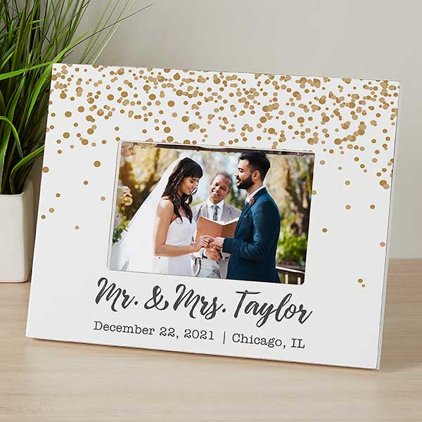 Personalized Wedding Picture Frame Sparkling Love