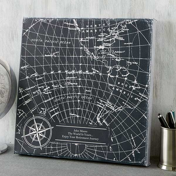 Personalized Industrial World Map Canvas Prints - 19100