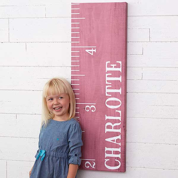 Personalized Canvas Growth Chart Watch Me Grow