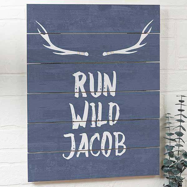 Personalized Wooden Slat Signs - Tribal - 19118