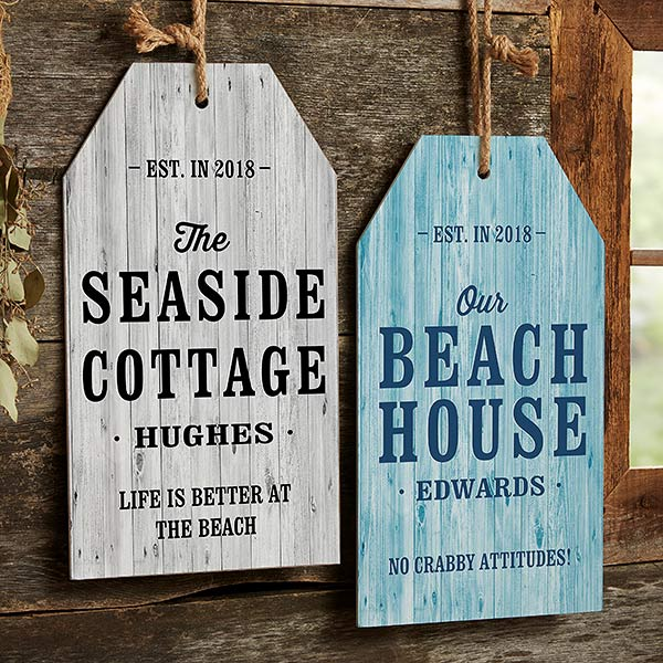 Home Away From Home Personalized Wooden Wall Tag - 19121