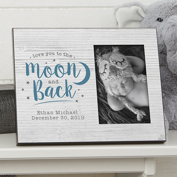 Love You To The Moon Personalized Baby Picture Frame