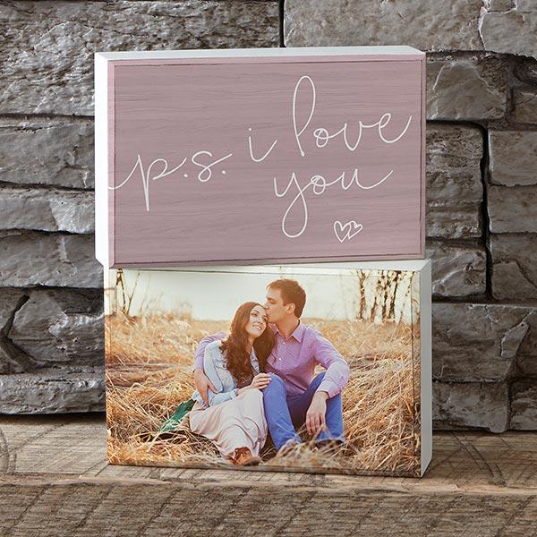 P.S. I Love You Personalized Photo Shelf Decor - 19127
