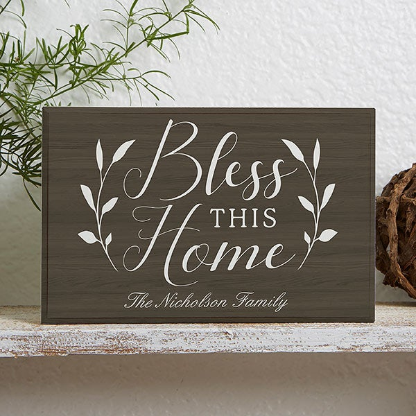 Personalized Shelf Decor - Bless This Home - 19129