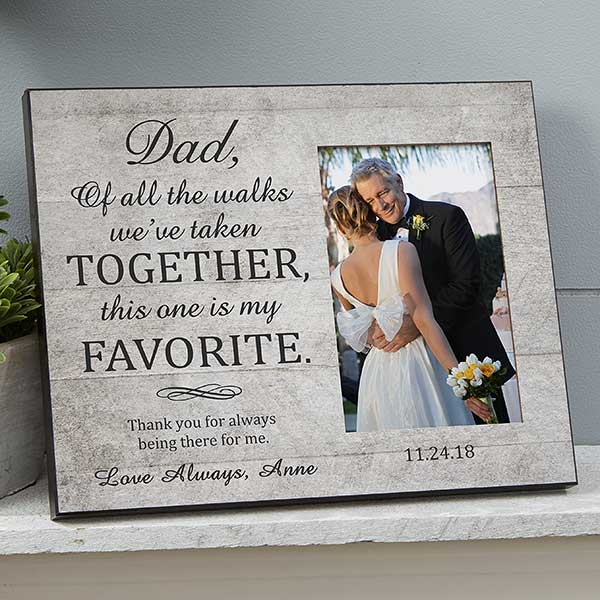 Personalized Wedding Picture Frame For Dad - 19138