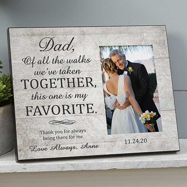 Me and My Daddy Personalised Picture Photo Frame Keepsake Birthday Gift