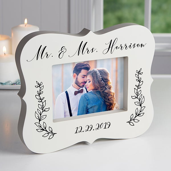 Personalized Block Picture Frame - Wedded Bliss - 19145