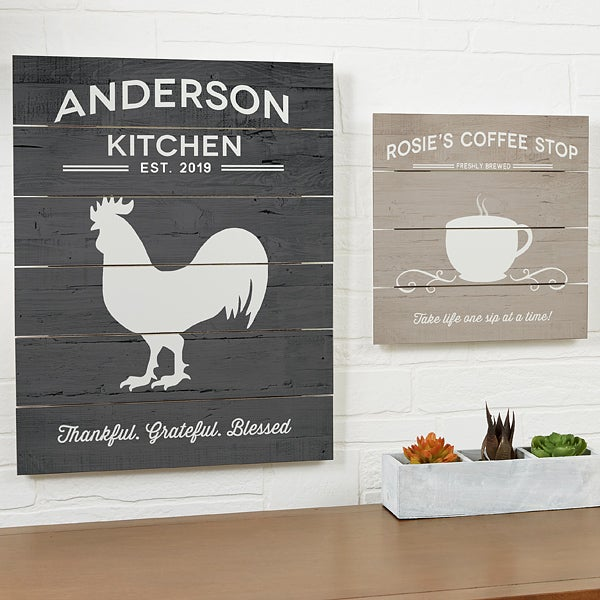 Personalized Wooden Slat Sign 16x20 Farmhouse Kitchen