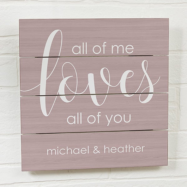 Personalized Wood Plank Signs - Romantic Wall Art - 19168