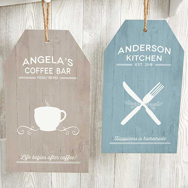 Farmhouse Kitchen Personalized Wood Tags  - 19183